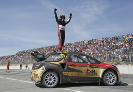 Petter Solberg wins Montalegre World Rallycross 2014