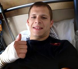 Stefan Bradl in hospital