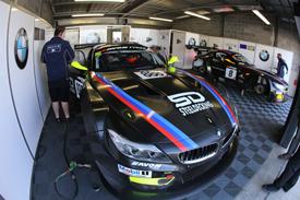 Triple Eight BMW British GT garage