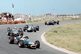 Jack Brabham leads 1966 Dutch Grand Prix