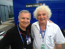 Bruno Giacomelli and Alberto Colombo