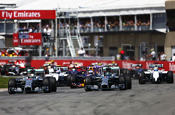 Canadian Grand Prix start, 2014
