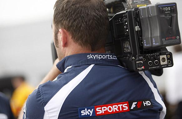 Formula 1 TV cameraman
