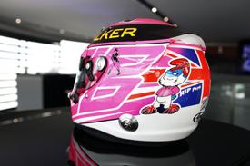 Jenson Button pink helmet