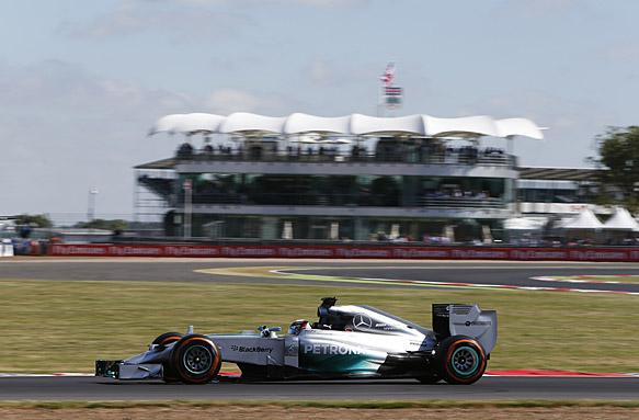 Lewis Hamilton, British GP practice 2014