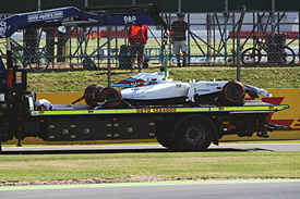 Felipe Massa wreckage, British GP practice 2014