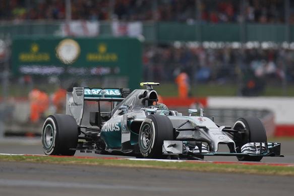 Nico Rosberg, British Grand Prix practice, Mercedes