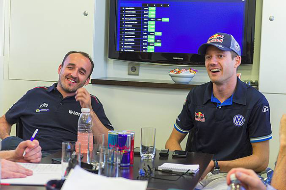 Robert Kubica and Sebastien Ogier