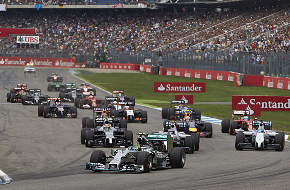 Formula 1 start, German GP