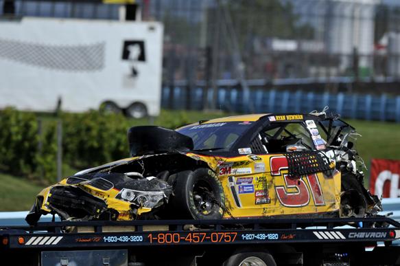 Newman slams Glen after huge crash