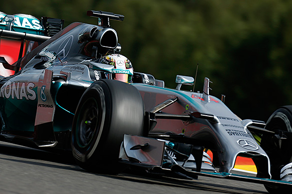 Hamilton tops the times in FP2