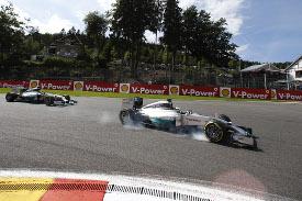 Lewis Hamilton at the Belgian Grand Prix