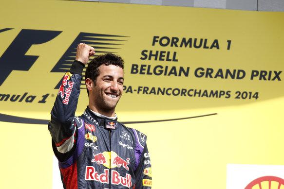 Daniel Ricciardo wins 2014 Belgian GP