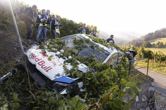 Jari-Matti Latvala, VW, WRC Germany 2014, crash