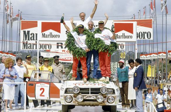 Bjorn Waldegaard wins the 1986 Safari Rally WRC