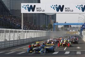 Nicolas Prost, e.dams, leads Beijing Formula E 2014