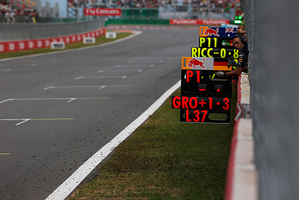 Clampdown extends to F1 pit boards