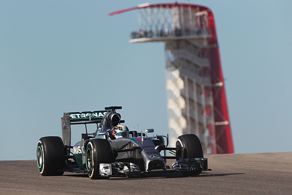 Hamilton fastest again at Austin
