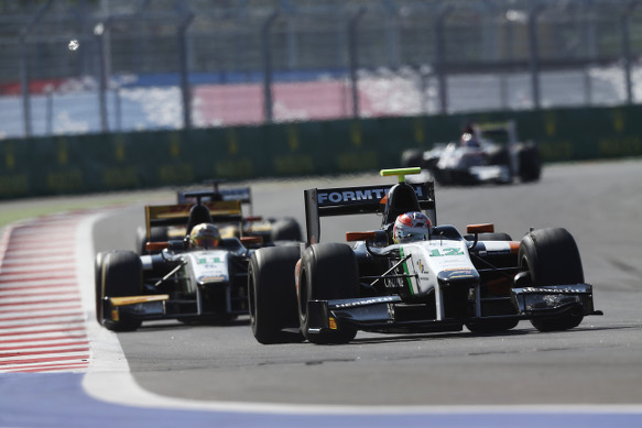 GP2 action at Sochi in 2014