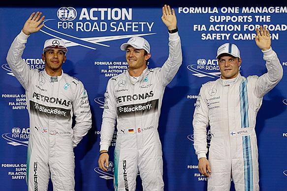 Rosberg beats Hamilton to pole