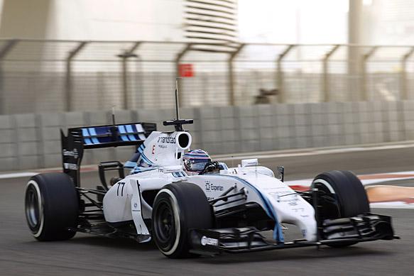 Bottas leads testing in Abu Dhabi