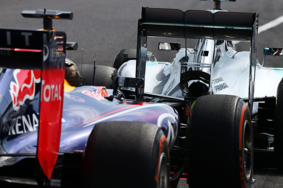 Mercedes and Red Bull, 2014