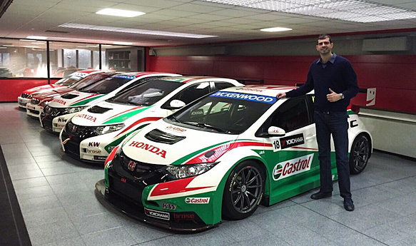 dusan borkovic switches to proteam honda for 2015 wtcc. Black Bedroom Furniture Sets. Home Design Ideas