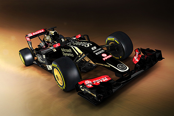 Lotus reveals first image of new F1 car