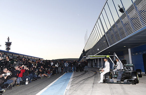 Mercedes launches as testing begins