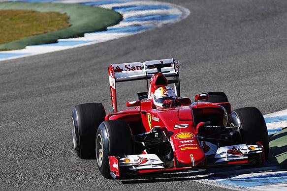 Sebastian Vettel, Ferrari, Jerez F1 testing February 2015