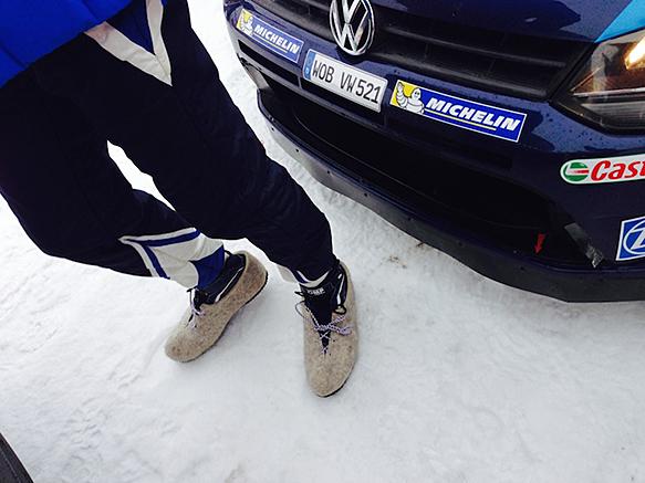 VW furry shoes
