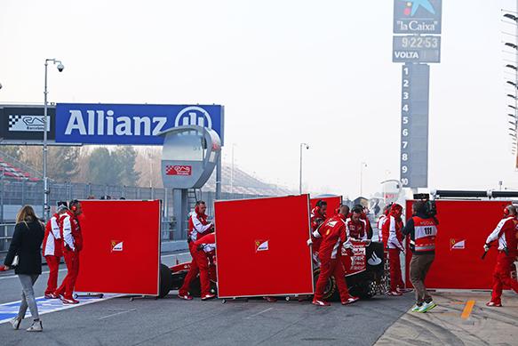 Kimi Raikkonen, Ferrari, Barcelona F1 test February 2015