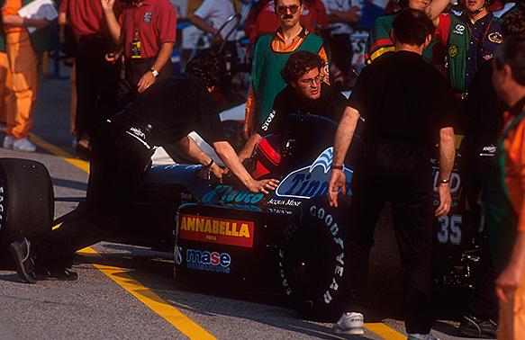 Perry McCarthy, Andrea Moda, San Marino GP 1992, Imola