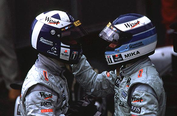 Mika Hakkinen, David Coulthard, F1 2000