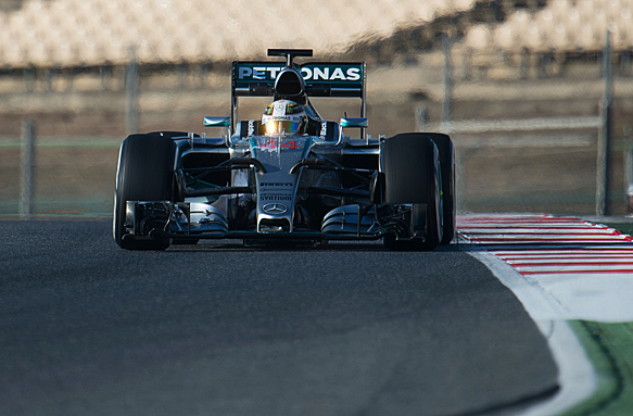 Lewis Hamilton, F1 testing 2015