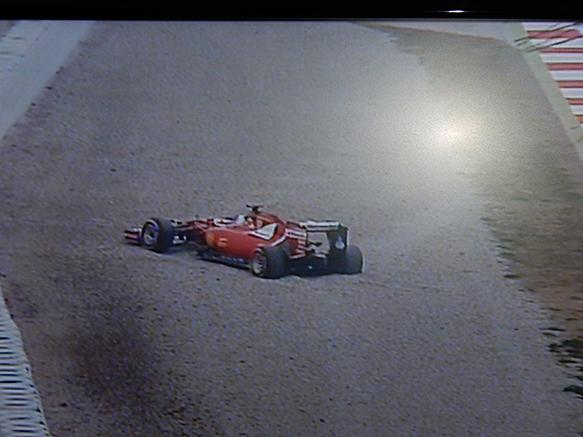 Sebastian Vettel off