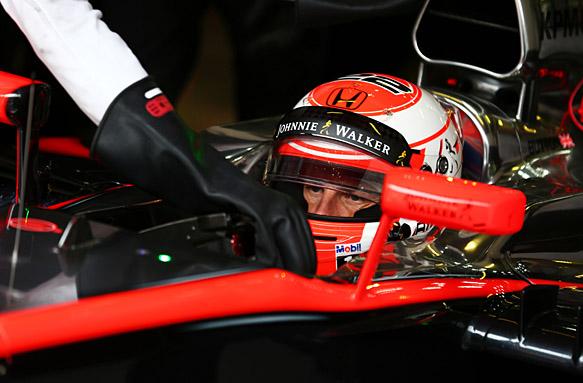 Jenson Button, F1 testing Barcelona 2015