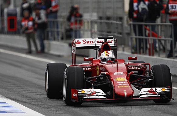 Sebastian Vettel, F1 testing 2015