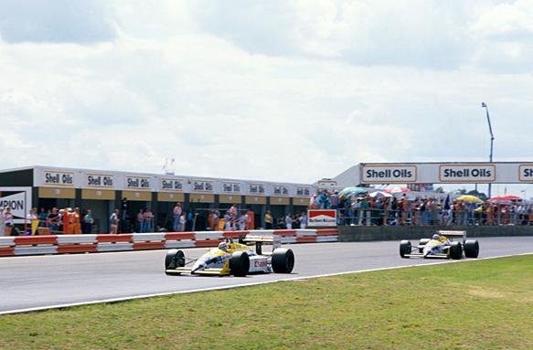 Nelson Piquet, Nigel Mansell, 1987 British GP