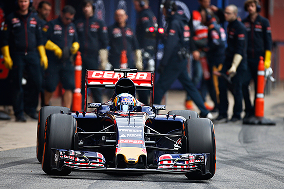 Carlos Sainz Jr, Toro Rosso, Barcelona F1 testing February 2015