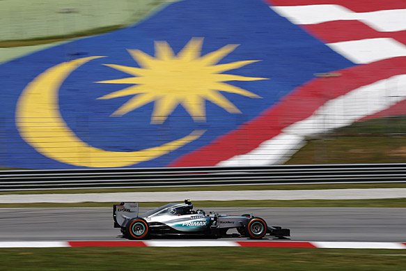 Rosberg fastest, trouble for Hamilton
