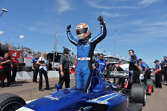 Ed Jones wins St Petersburg Indy Lights 2015 for Carlin