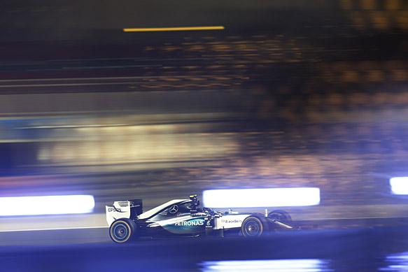 Rosberg pips Hamilton in practice two