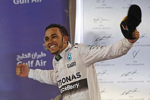 Hamilton wins ahead of Raikkonen