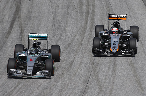 Nico Rosberg, Mercedes, Nico Hulkenberg, Force India, F1 2015