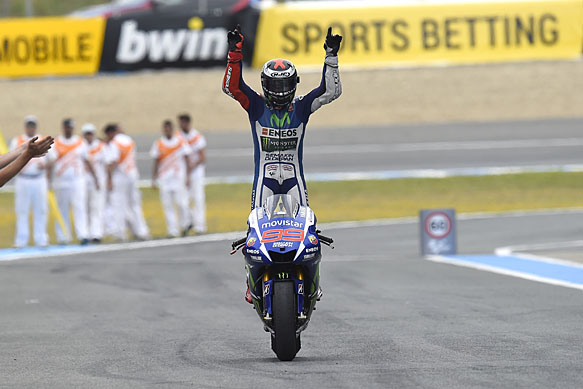 Jorge Lorenzo wins Jerez MotoGP 2015