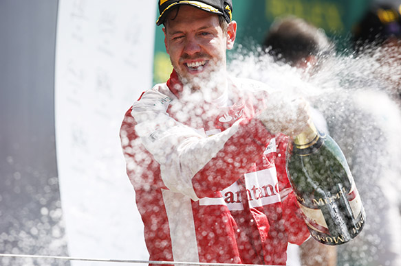 Vettel insists podium 'not a gift'