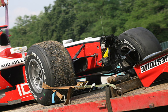 Jules Bianchi crash damage, Hungaroring GP2 2010