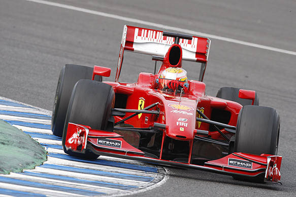 Jules Bianchi, Ferrari, Jerez F1 testing, December 2009