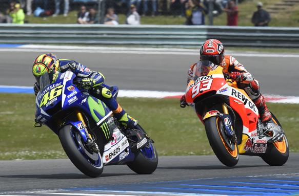 Rossi, Yamaha, Marquez, Honda, Assen